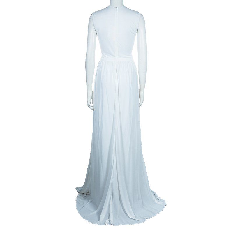 Issa White Metal Detail Maxi Dress M