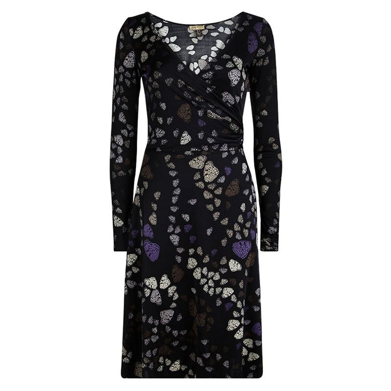ac11aa725cc ... Issa London Black Butterfly Printed Silk Wrap Dress S. nextprev.  prevnext