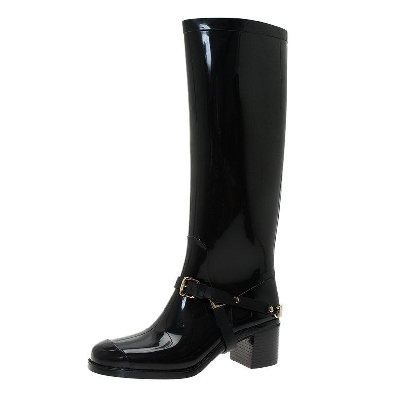 e923a029562 ... Jimmy Choo Black Rubber Chester Rain Boot Size 36. nextprev. prevnext