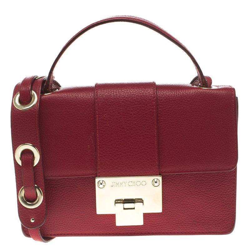 09f5ec4bd0e3f Buy Jimmy Choo Red Leather Rebel Crossbody Bag 103975 at best price ...