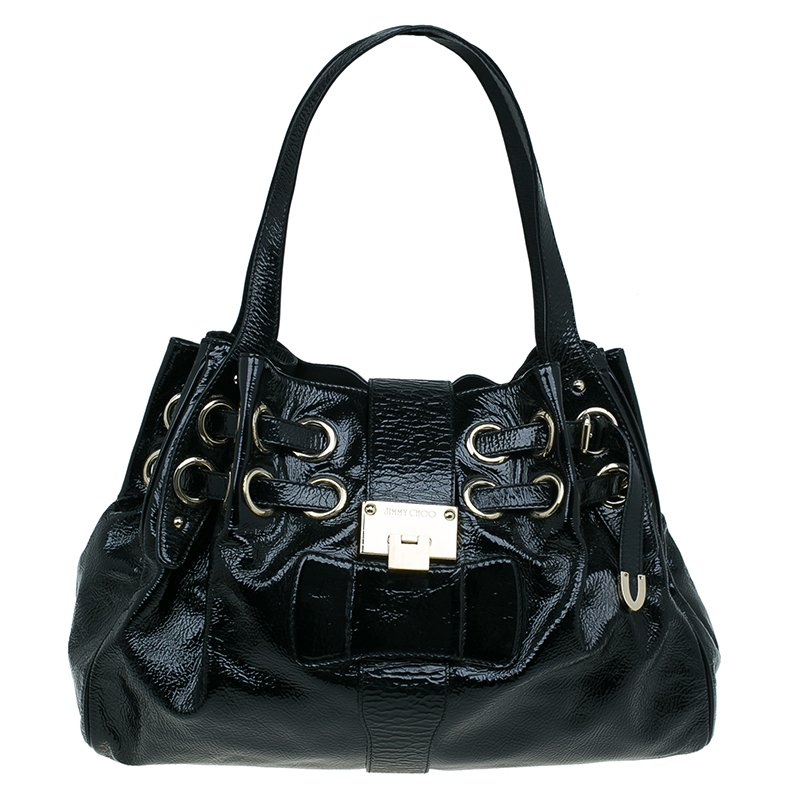 fb6157b9e66f ... Jimmy Choo Crackled Patent Leather Large Riki Tote Bag. nextprev.  prevnext