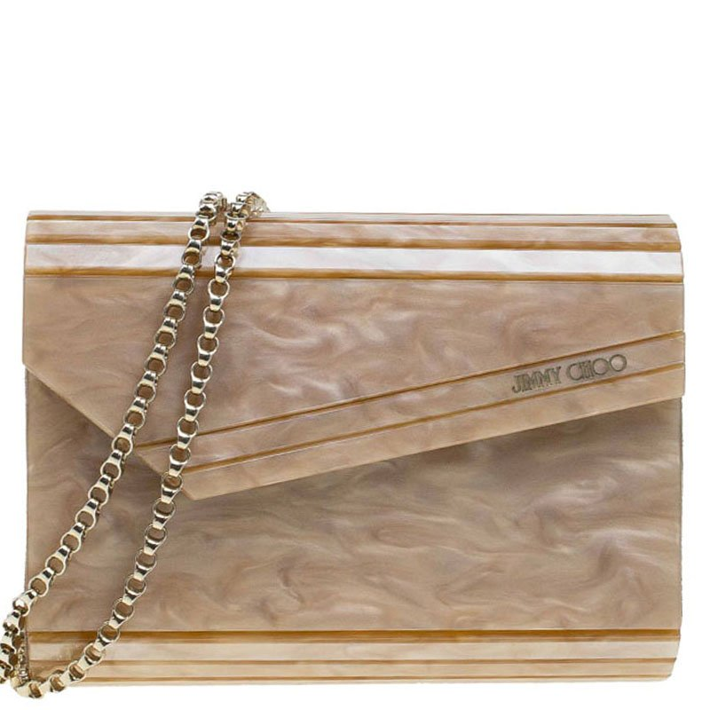 0d692baf60c Buy Jimmy Choo Brown Acrylic Candy Clutch Bag 78656 at best price | TLC