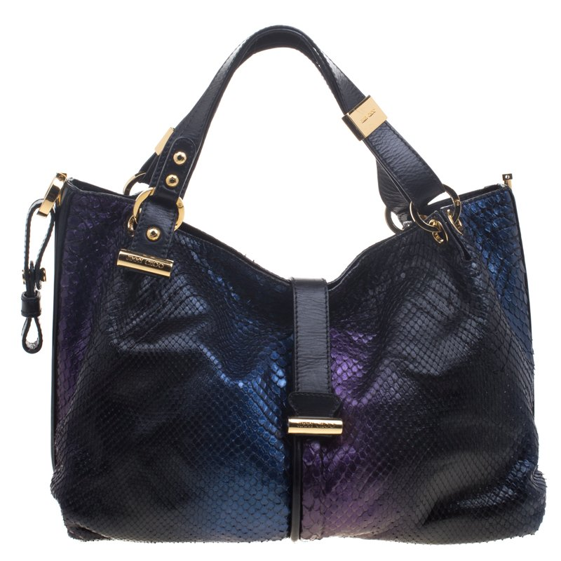 cf438e61288 Jimmy Choo Holographic Python Ayse Shoulder Bag