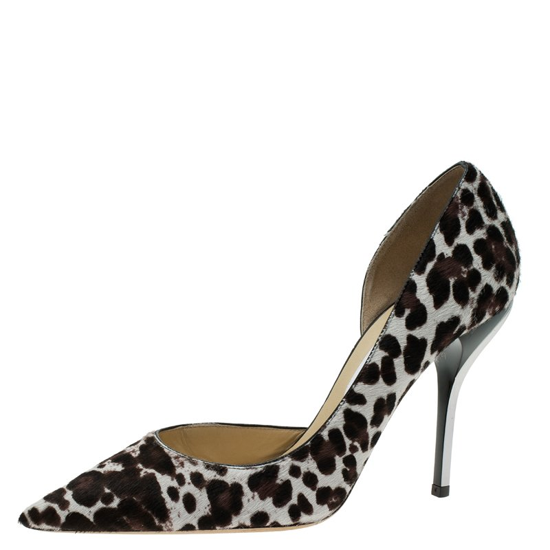 a8f983e56880 ... Jimmy Choo Leopard Print Pony Hair Willis D Orsay Pointed Pumps Size  40. nextprev. prevnext