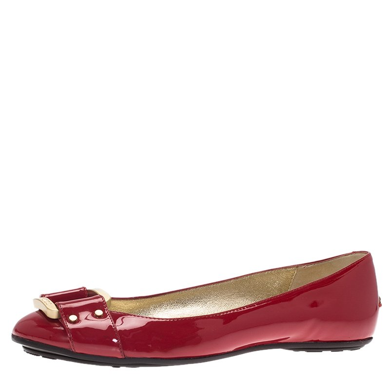 Jimmy Choo Red Patent Morse Ballet