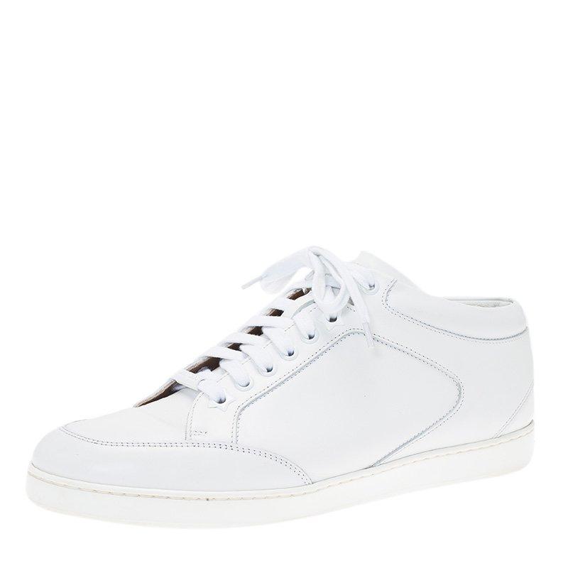 4909d70e75a ... Jimmy Choo White Leather Miami Sneakers Size 39. nextprev. prevnext