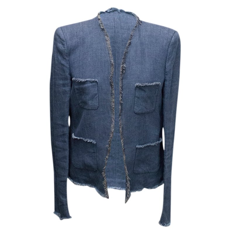 Joseph Blue Pocket Detail Denim Jacket L
