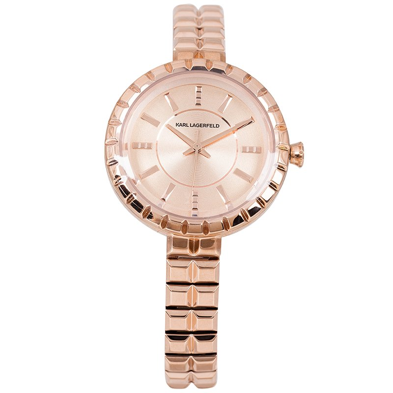 Karl Lagerfeld Rose Gold-Plated Stainless Steel KL3603 Women's Wristwatch 34MM