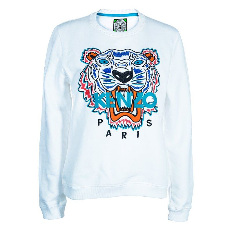 47336 Buy White Tiger L Best Kenzo Sweater PriceTlc Embroidered At HDeE9W2IY