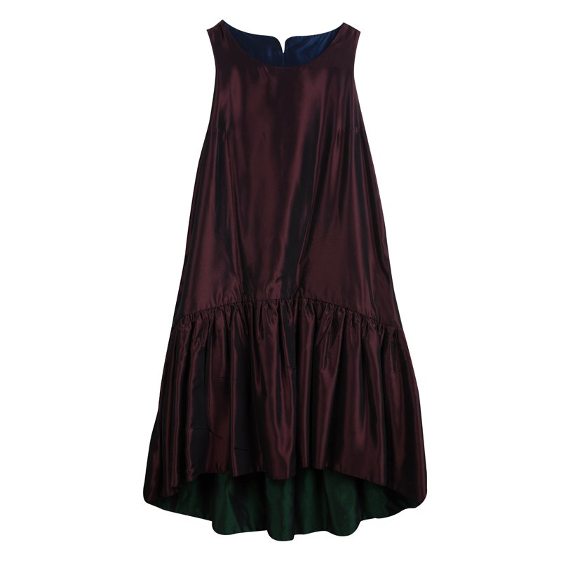 8f8ad4c0f Buy Kenzo Burgundy Two Tone Sleeveless Dress S 77193 at best price | TLC