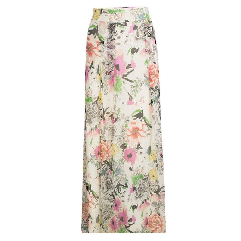 091c0f11e Buy Kenzo Floral Printed Crinkled Silk Chiffon Maxi Skirt L 98304 at ...