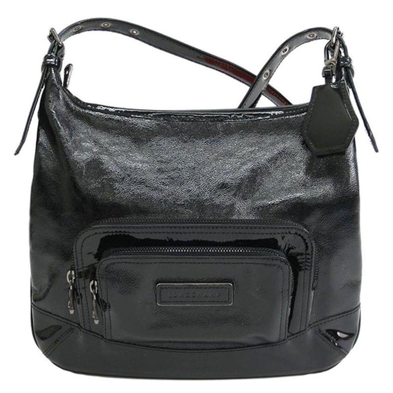 3cec26cbdb65 ... Longchamp Black Patent Leather Legende Verni Crossbody Bag. nextprev.  prevnext