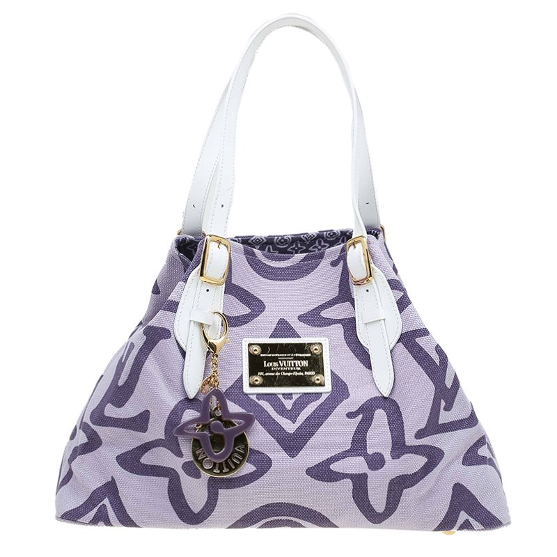 6dc2a533389 Buy Louis Vuitton Purple Limited Edition Tahitienne Cabas PM Bag ...