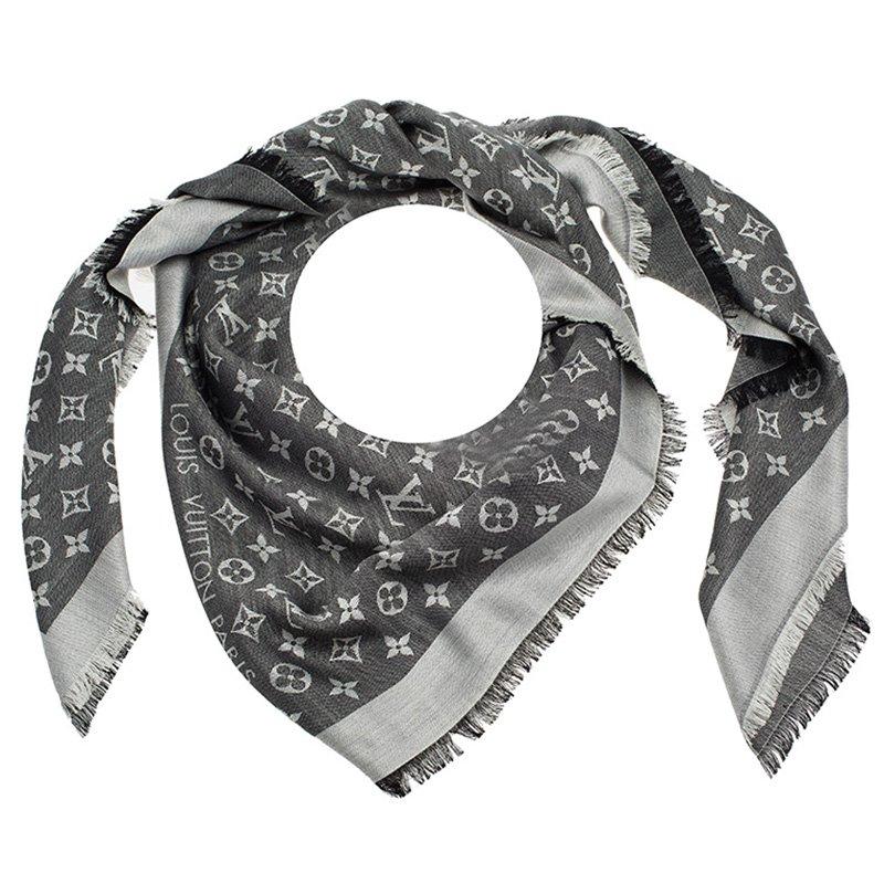 517d581f0c7d6 Buy Louis Vuitton Black Monogram Denim Shawl 86799 at best price