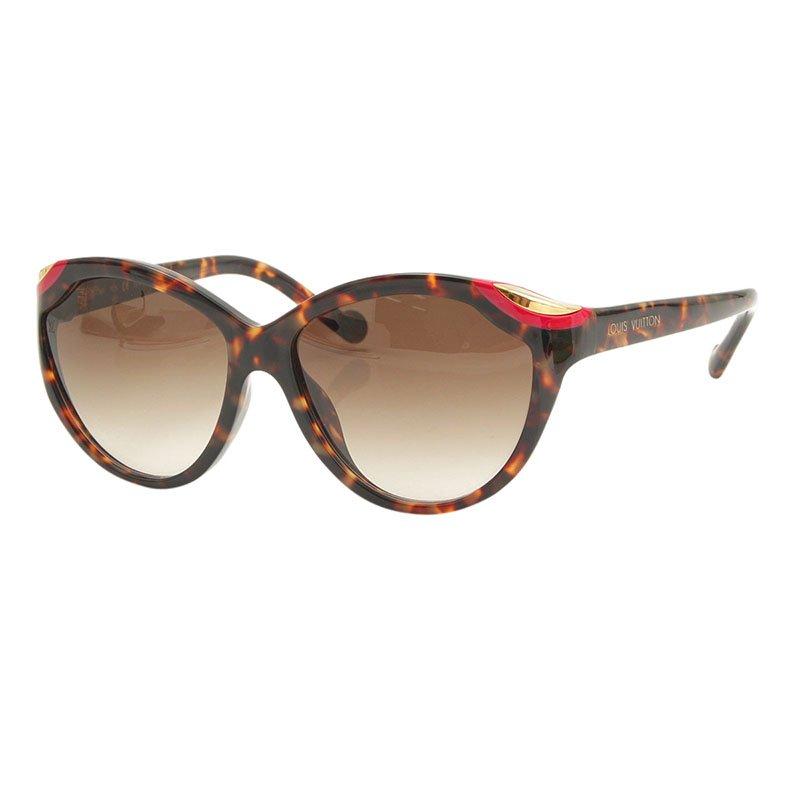 c5260b61f70e7 Buy Louis Vuitton Tortoise Frame Ivy Cat Eye Sunglasses 100136 at ...