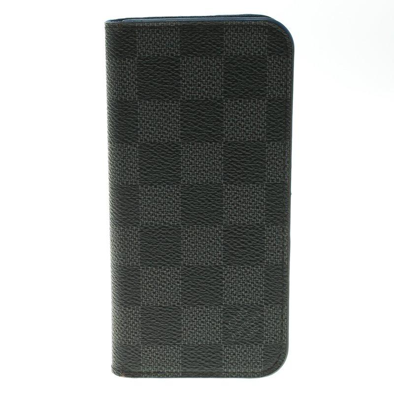 cheaper 95037 c95bd Louis Vuitton Damier Graphite Canvas iPhone 6 Folio Case