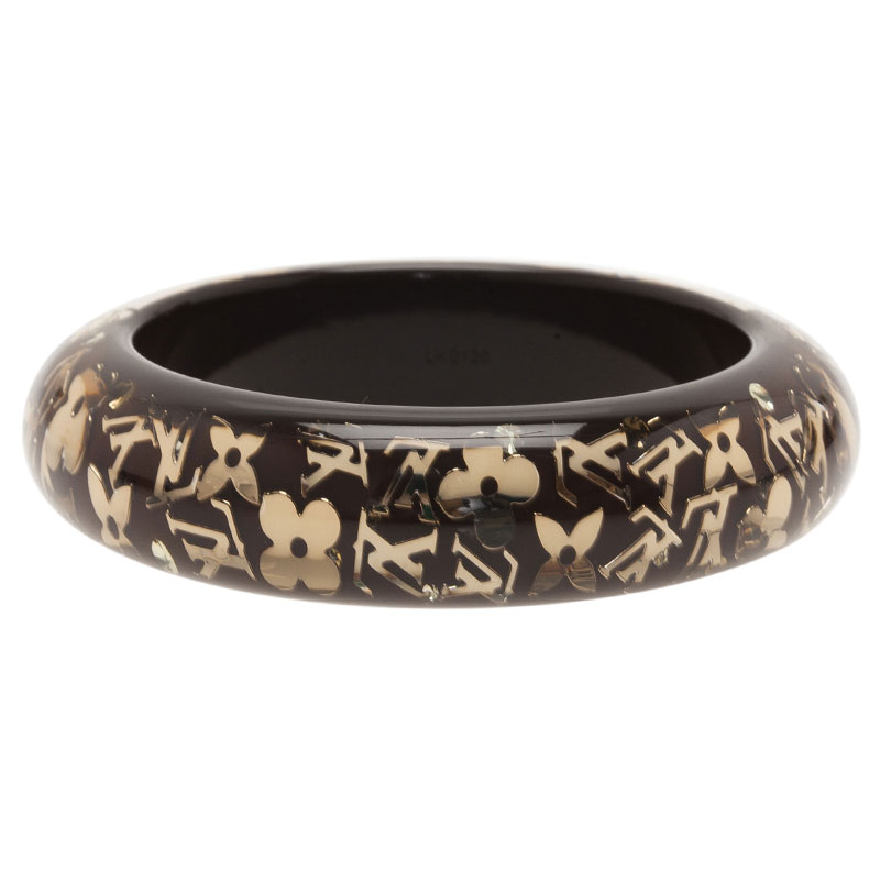 Louis Vuitton Inclusion Brown Bangle Bracelet