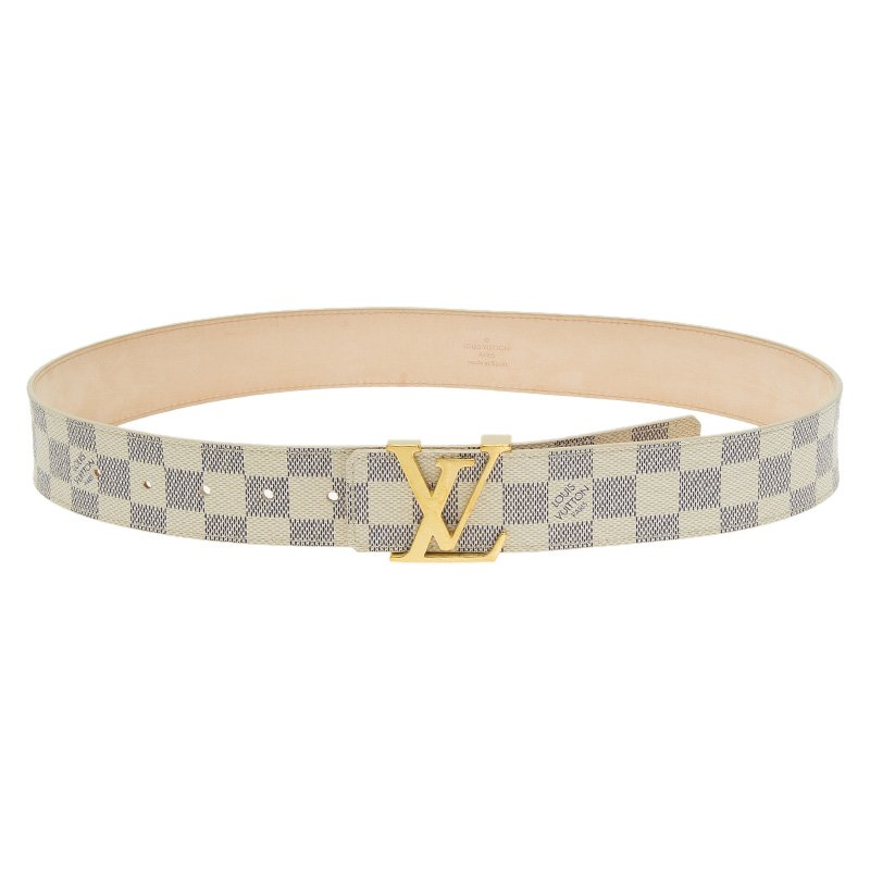 2c55e27dd Buy Louis Vuitton Damier Azur Canvas Initials Belt 45790 at best ...