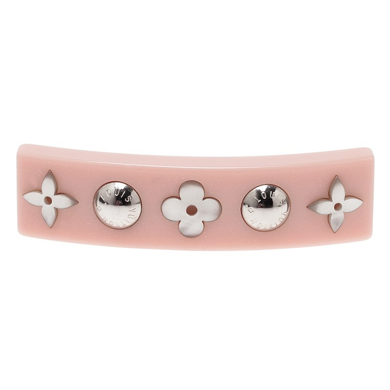 Louis Vuitton Inclusion Pink Resin Hairclip