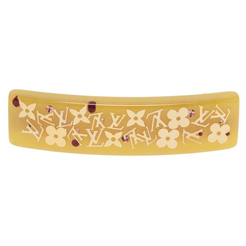 Louis Vuitton Inclusion Yellow Resin Hairclip