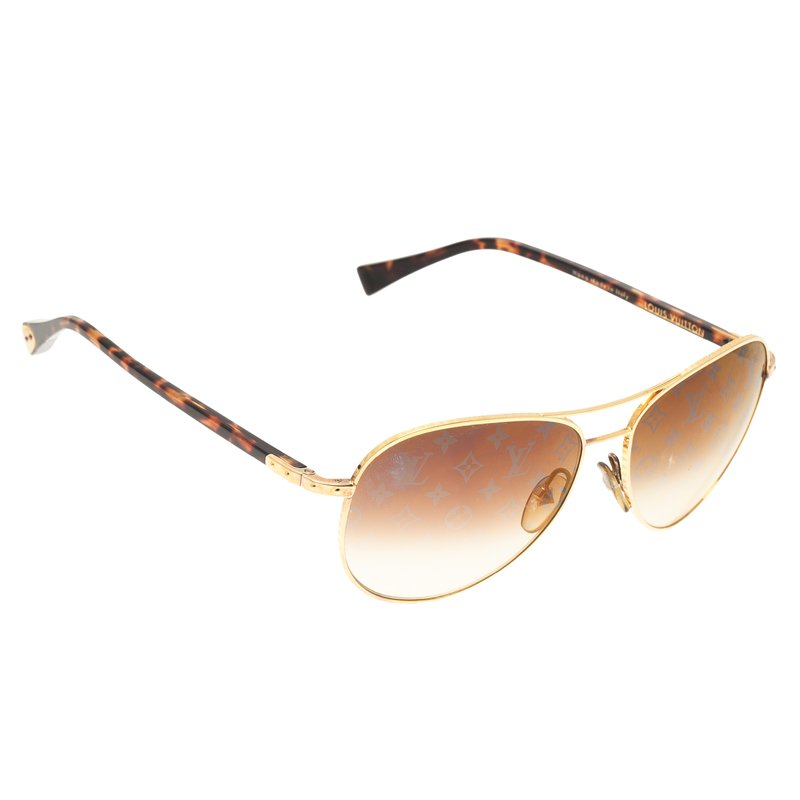 3b21ef550ce ... Louis Vuitton Gold Conspiration Pilote Aviators. nextprev. prevnext