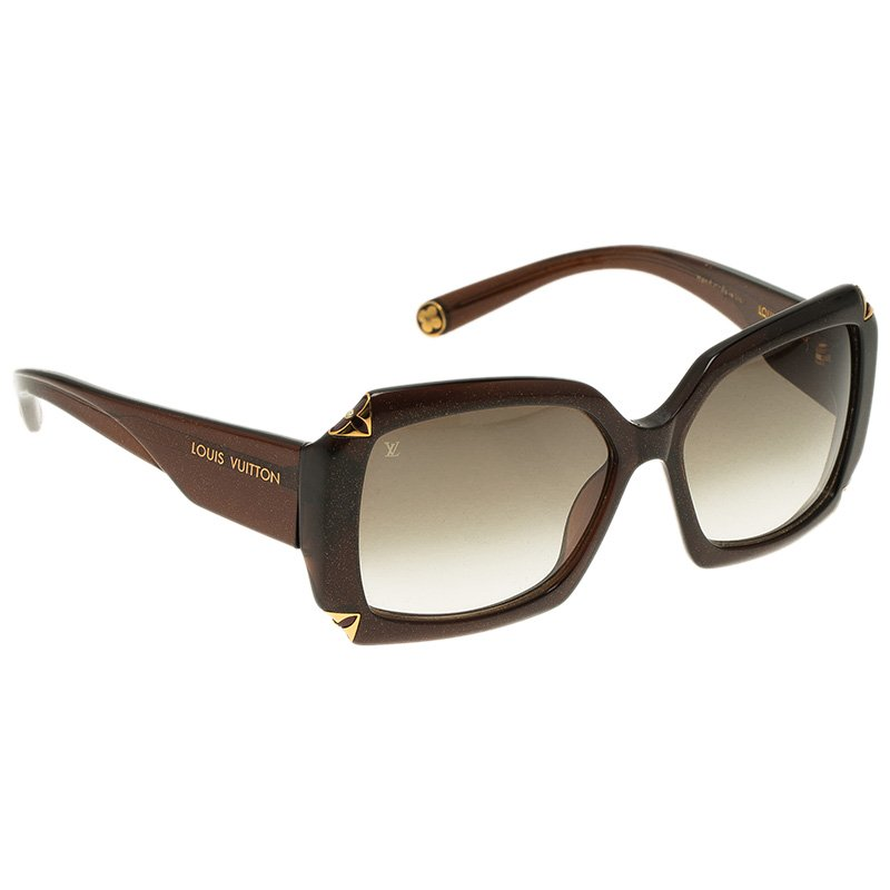 4bfc2a93cece Buy Louis Vuitton Brown Glitter Hortensia Sunglasses 53990 at best price