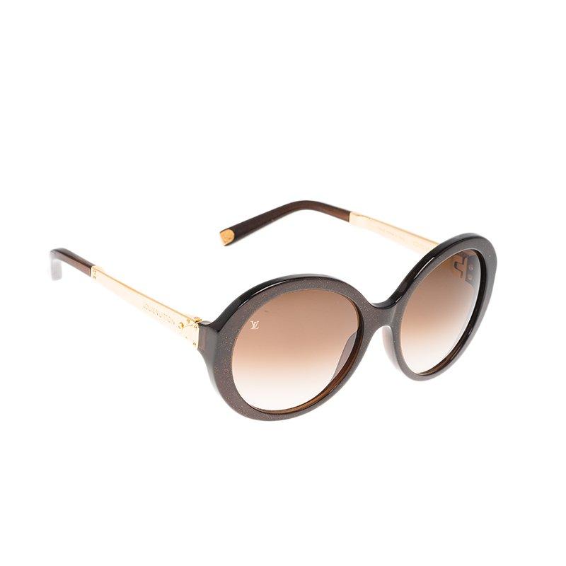 3604869921cc7 ... Louis Vuitton Brown Glitter Petit Soupcon Round Sunglasses. nextprev.  prevnext