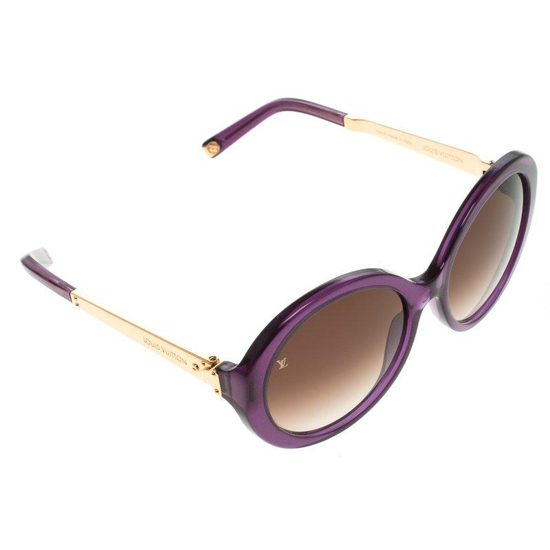 02a453b9327c0 ... Louis Vuitton Purple Z0560W Petit Soupcon Round Sunglasses. nextprev.  prevnext