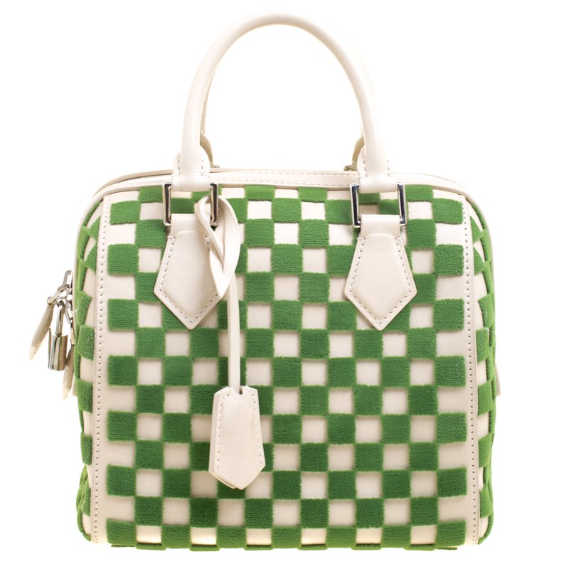 fad9277dcee6b Buy Louis Vuitton Green Damier Cubic Fabric and Leather Limited ...