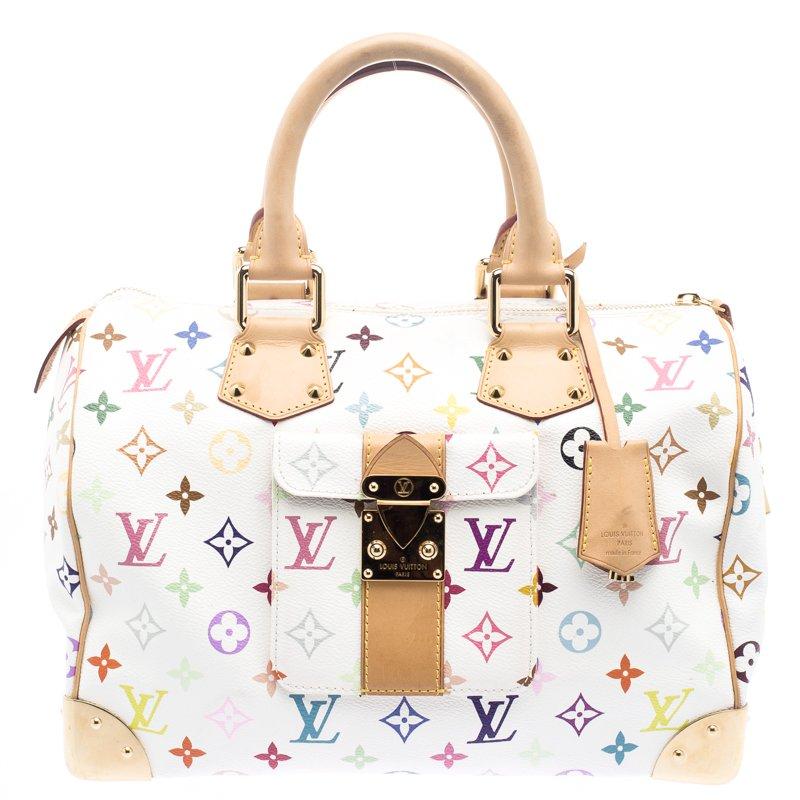 500caa305557 ... Louis Vuitton White Multicolor Monogram Canvas Speedy 30. nextprev.  prevnext