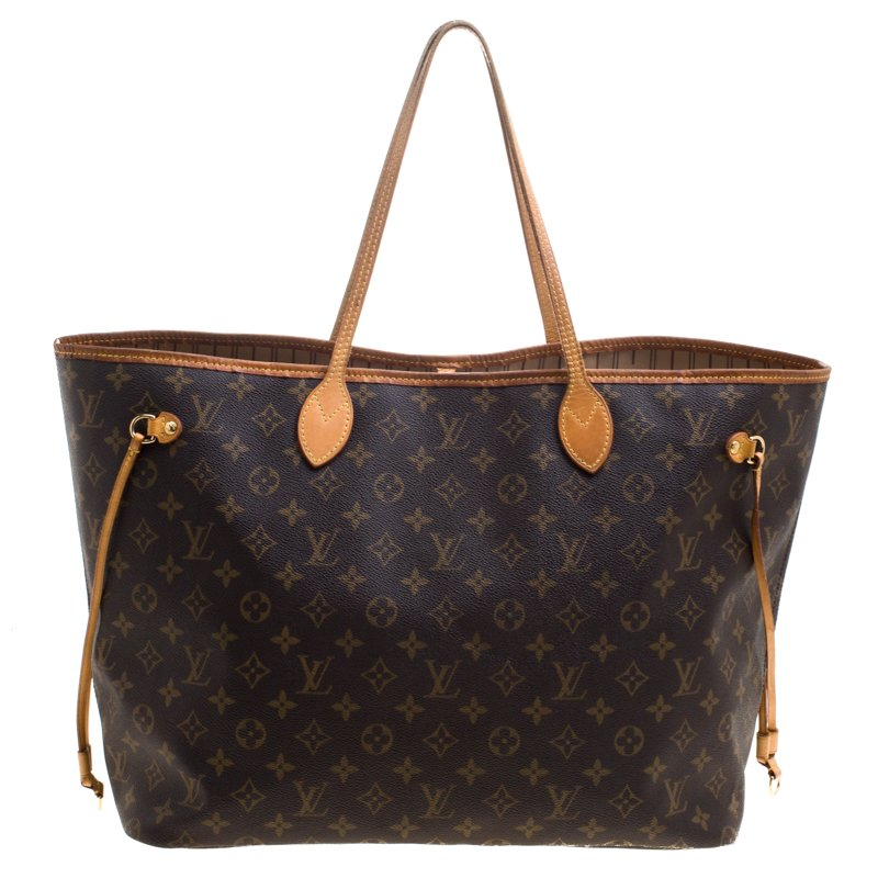 0aa551dad02 Louis Vuitton Monogram Canvas Neverfull GM Bag