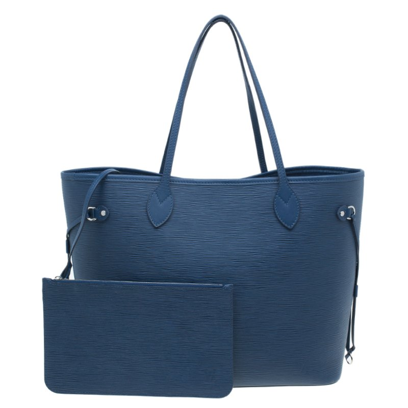 Louis Vuitton Blue Epi Leather Neverfull MM