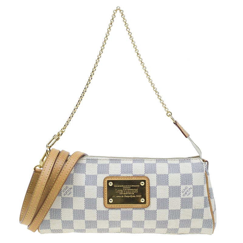 cb1d8a923065 ... Louis Vuitton Damier Azur Canvas Eva Pochette Crossbody Bag. nextprev.  prevnext