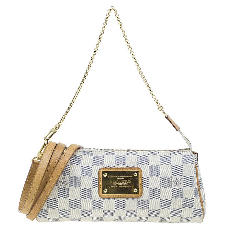 f5d430665a65 ... Louis Vuitton Damier Azur Canvas Eva Pochette Crossbody Bag. nextprev.  prevnext