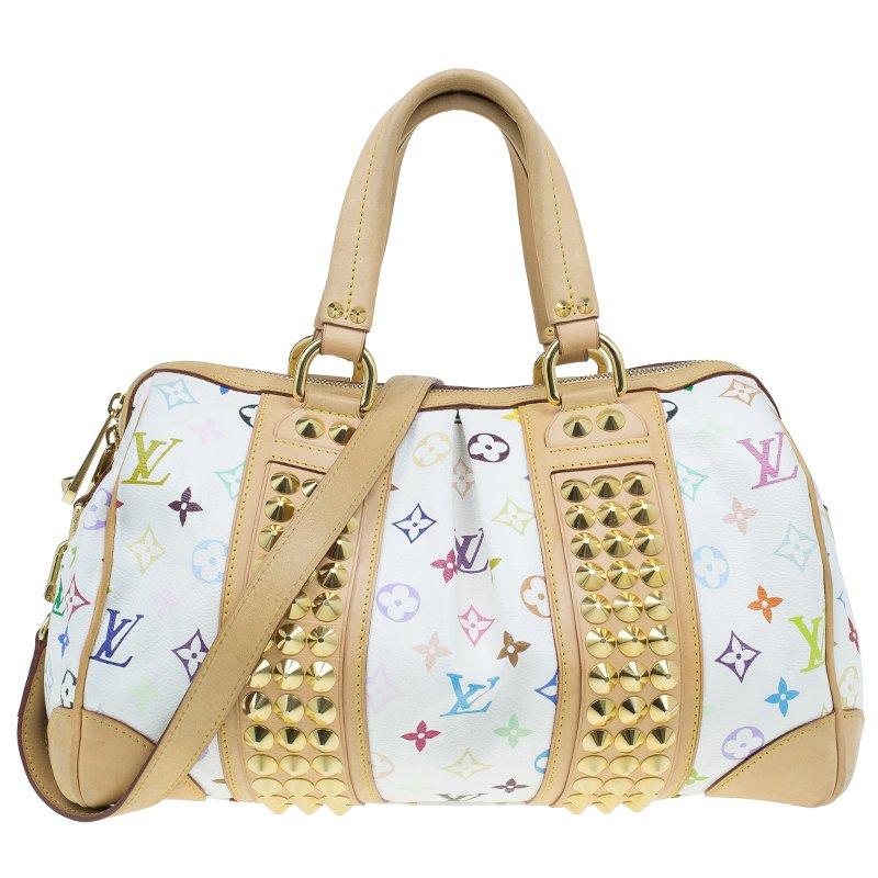 9b3a691c990e8 ... Louis Vuitton White Monogram Multicolore Courtney MM Bag. nextprev.  prevnext