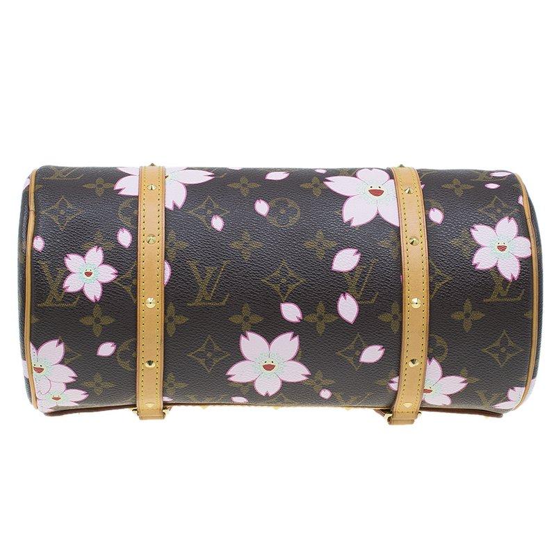 Louis Vuitton Monogram Canvas Limited Edition Cherry Blossom Papillon Bag