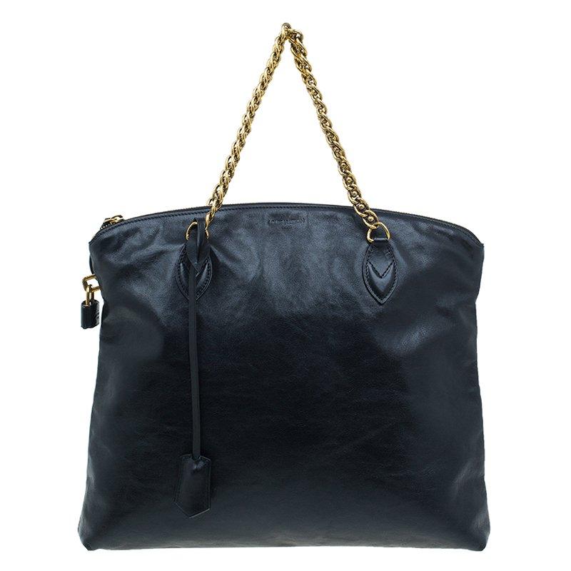 9183c0ea0 ... louis vuitton black cuir boudoir leather lockit chain tote bag nextprev  prevnext ...