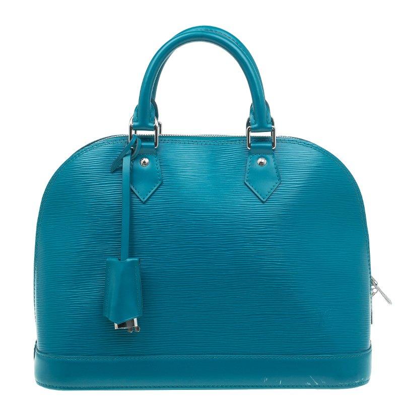 b4d8e777e1e7 Buy Louis Vuitton Cyan Epi Leather Alma PM Bag 48943 at best price