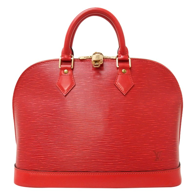181720af8aee Buy Louis Vuitton Red Epi Leather Alma PM 49440 at best price