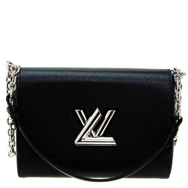 38c7069bb13 ... Louis Vuitton Black Epi Malletage Twist MM Shoulder Bag. nextprev.  prevnext
