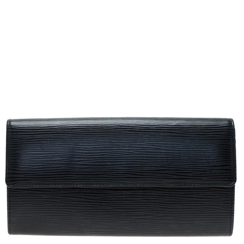de576314e17 Louis Vuitton Black Epi Leather Sarah Continental Wallet