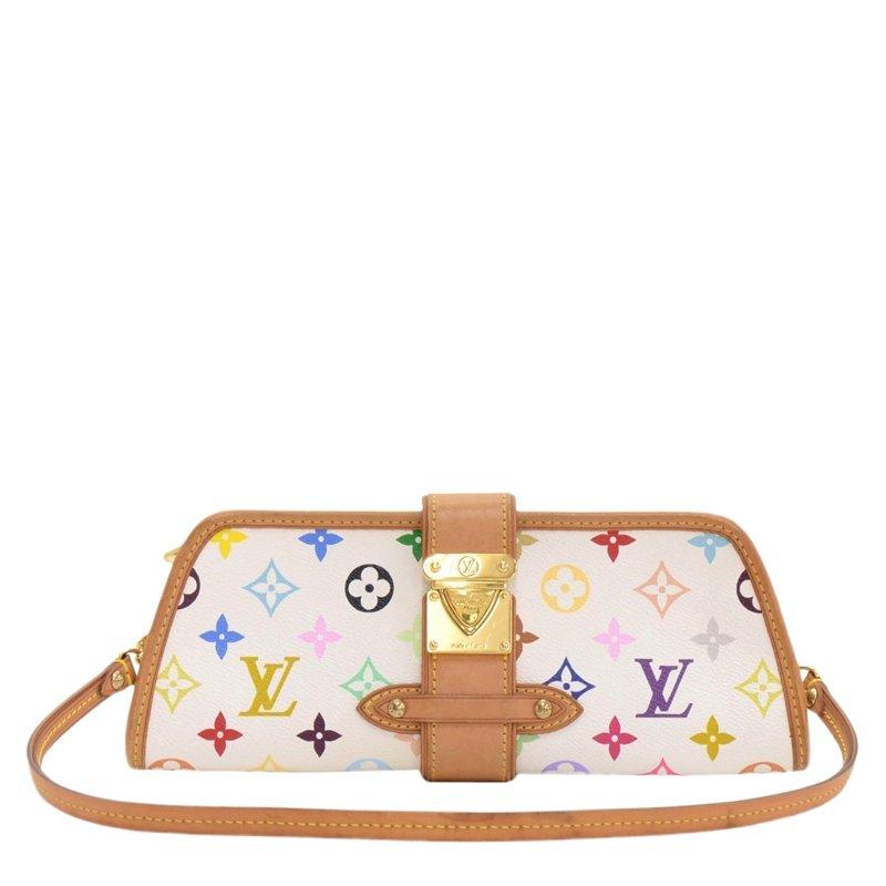 c898d43461727 ... Louis Vuitton White Monogram Multicolore Shirley Pochette Bag.  nextprev. prevnext