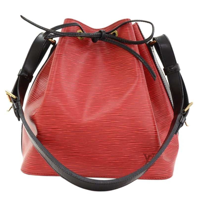 cefe6ae6dce5 ... Louis Vuitton Red   Black Epi Leather Petit Noe Shoulder Bag. nextprev.  prevnext