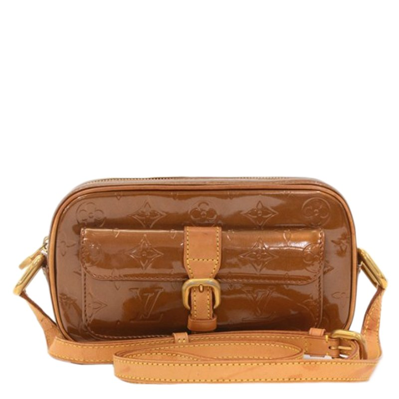 d07dc220a492 ... Louis Vuitton Bronze Monogram Vernis Christie Crossbody Bag MM.  nextprev. prevnext