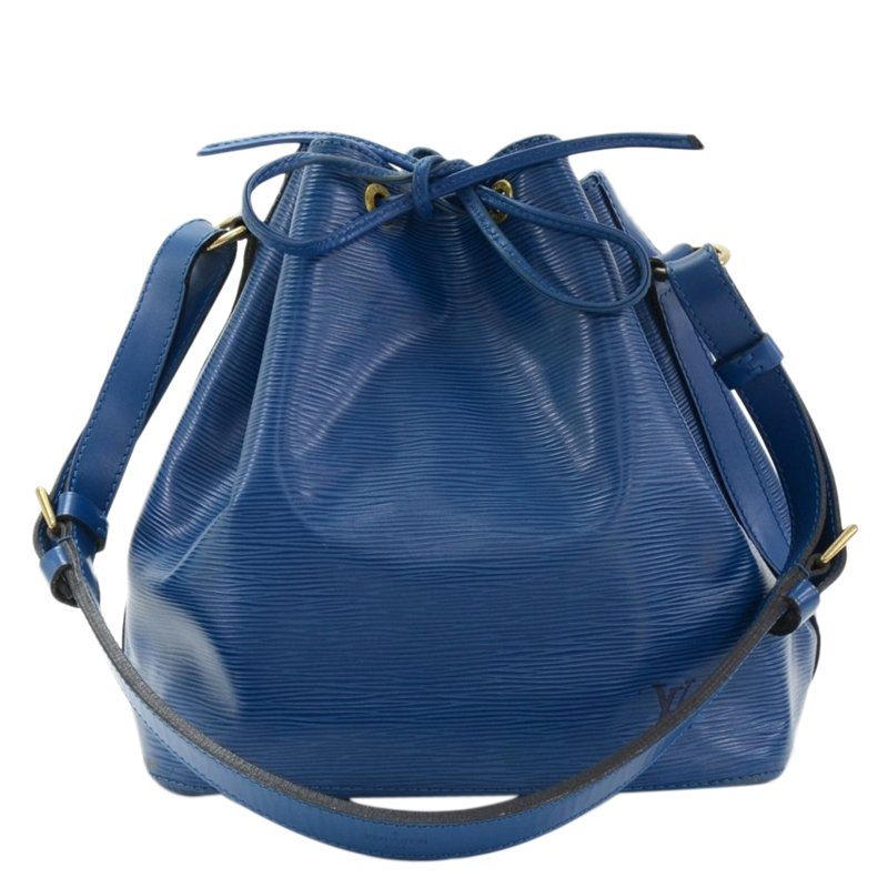 Louis Vuitton Toledo Blue Epi Leather Petite Noe Bag