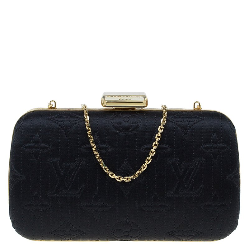 0adeae02d200 ... Louis Vuitton Black Monogram Satin Limited Edition Minaudiere Motard  Clutch. nextprev. prevnext