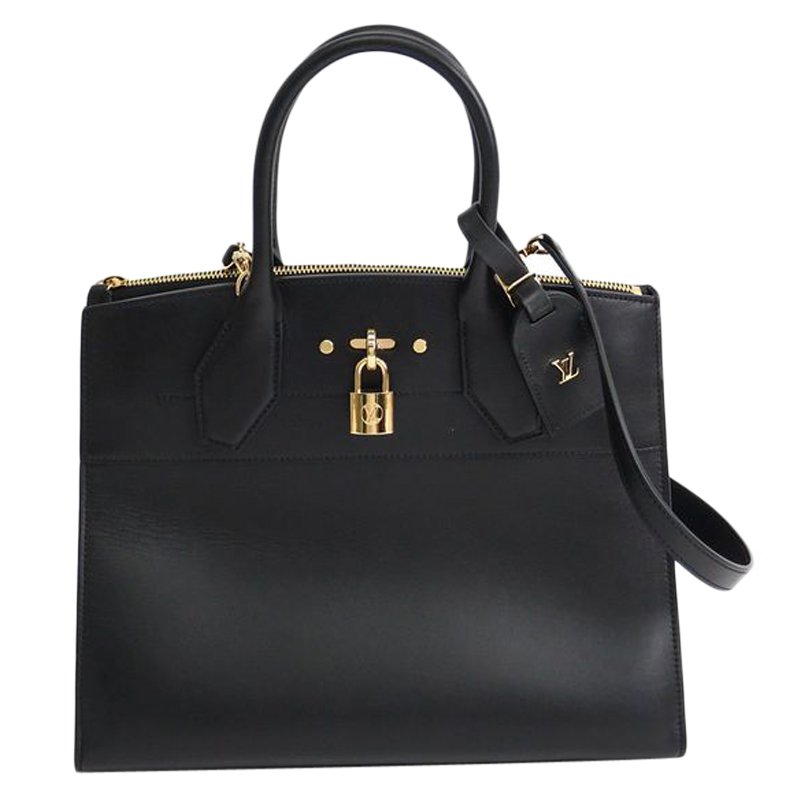 b81daa48c311 Buy Louis Vuitton Noir Calfskin Leather City Steamer MM Bag 58578 at ...
