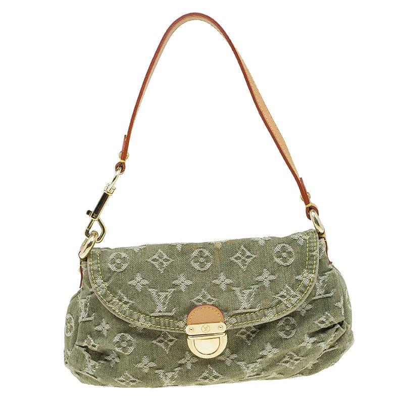 373d638c2728 Buy Louis Vuitton Green Monogram Denim Mini Pleaty Bag 58897 at best ...