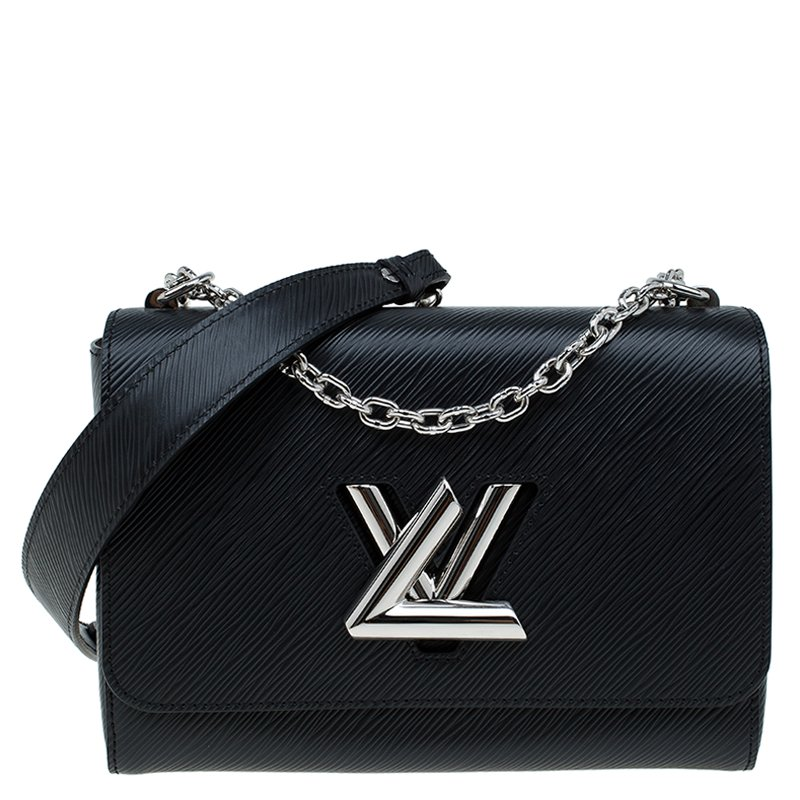 1c604f801770 Buy Louis Vuitton Black Epi Leather Twist MM Bag 60253 at best price ...