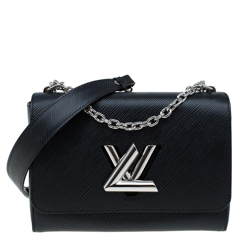 43c48abc96 Louis Vuitton Black Epi Leather Twist MM Bag
